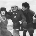 """Вохма, Коллего и Анися зимой на """"Леселидзе"""".1966 - 1967 г."""