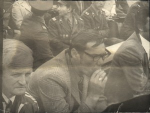 Великий Качалин, злой Красницкий и добрый Абдураимов, жаль - не весь с кадре. Стадион им. Кирова, Ленинград.