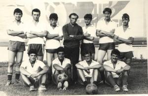 Футбольная команда в/части 36273 (Чуваш-Пайского гарнизона) - участник Первенства г.Гурьевска по футболу. 1986-1987 годы. Кемеровская область.