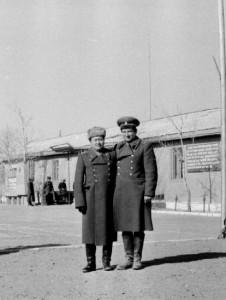 С другом Дивангаром в в/части 150. Сонгино, 1984 год.