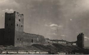Состояние стены меджу башнями в 20-е или 30-е годы...