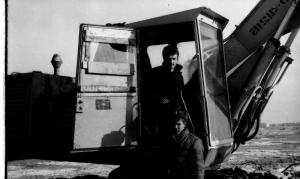 Экипаж машины землеройной ЭО-4121.