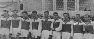"""""""Механик"""" 1958 год. Пушников - третий слева."""