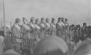 Старт лыжн. пробега Сургут - Омск. 23.02.1960 г.