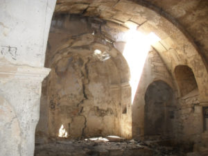 Вид храма изнутри. 2014 год.